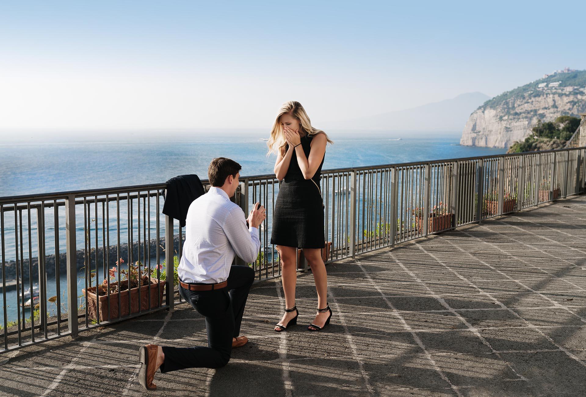 Proposta di matrimonio a sorpresa Costiera Amalfitana