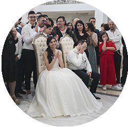 proiezione di matrimonio in sala
